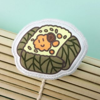 Snack Series - (chicken rice) cloth brooch / badge (BDS03)