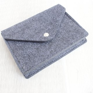 【Can be customized】 original pure handmade dark gray felt elastic belt camera bag mouse bag mouse bag power cord bag charger bag charger package package 3C surrounding package package transmission line storage package (can be customized) - 121