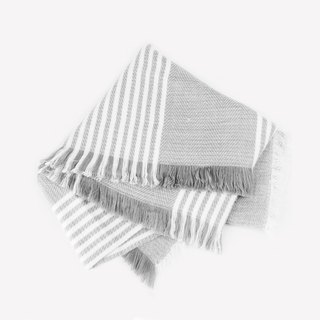 kitann ino thick gray striped shawl scarf