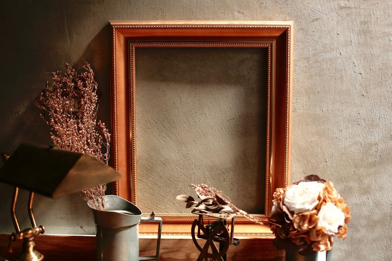 French vintage carved bronze gold old picture frame / medium and large models