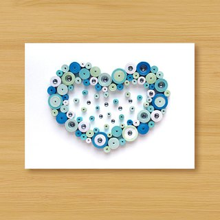 Handmade Roll Paper Card _ Sweet Love Bubbling - Blue... Valentine Card, Father Card