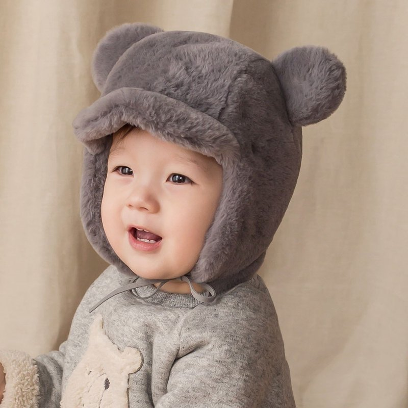 Happy Prince Korean Molo Bear Baby Hat