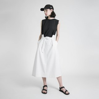 Moment moment high waist pleated skirt _8SF232_白