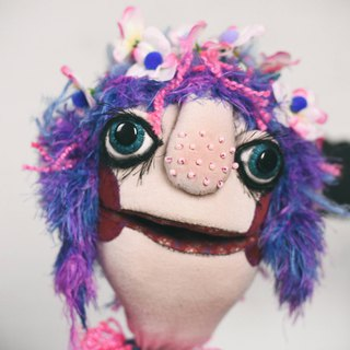 Zu - hand puppet / muppet, original custom made doll
