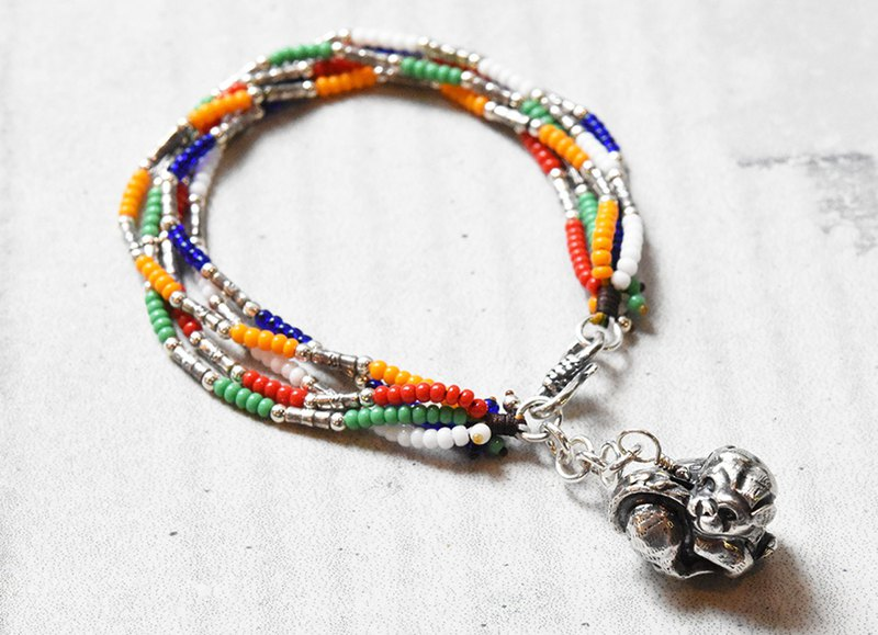 Five Elements Glass Zodiac Bracelet - Dog
