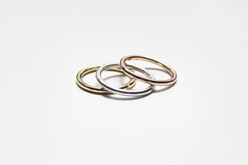 925 Silver Triple Ring Set