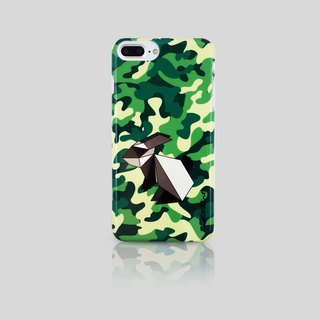 (Rabbit Mint) Mint Rabbit Phone Case - Camouflage Origami Rabbit series - iPhone 7 Plus (P00074)