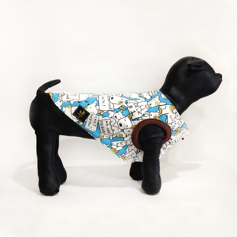 "Many blue dog vest pet clothes Act fighting ""Spot Clearing"""
