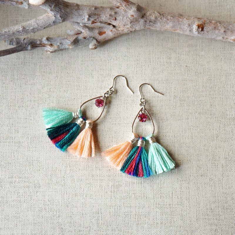 original tassel pierced earring romantic