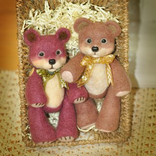Wool felt teddy bear