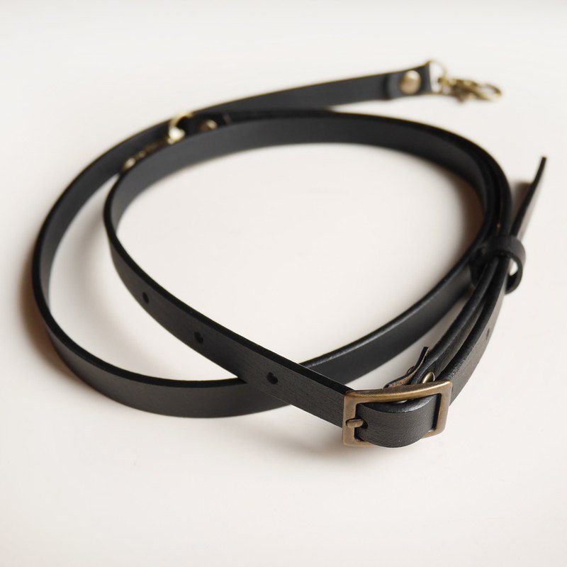 Leather leather strap 120cm width 1.2cm adjustable length [made in Taiwan]