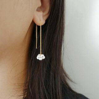 Miluku 14kgf hanging pearl earrings
