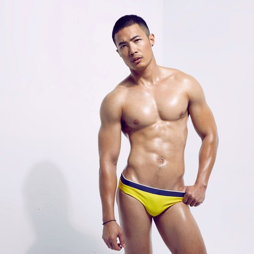 Men's swimwear / Yellow Pop