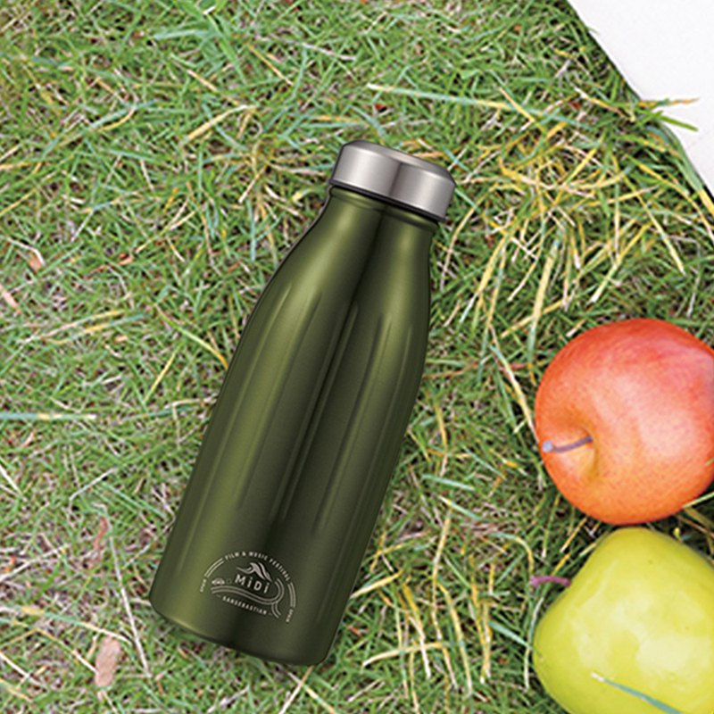 CB MiDi City Series Double Cooling Thermos 350ml-Olive Green