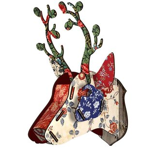 SUSS-Italian MIHO wooden deer head high quality home decoration / wall decoration - medium size (Capri-1)