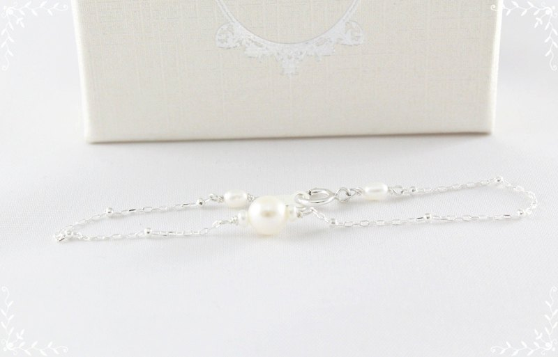 Light pearl jewelry 925 sterling silver bracelets