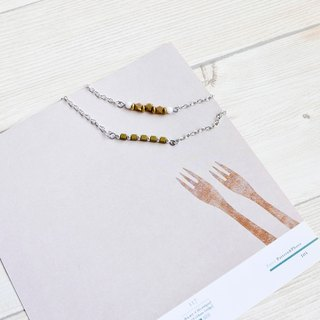 Golden energy brass bracelet necklace