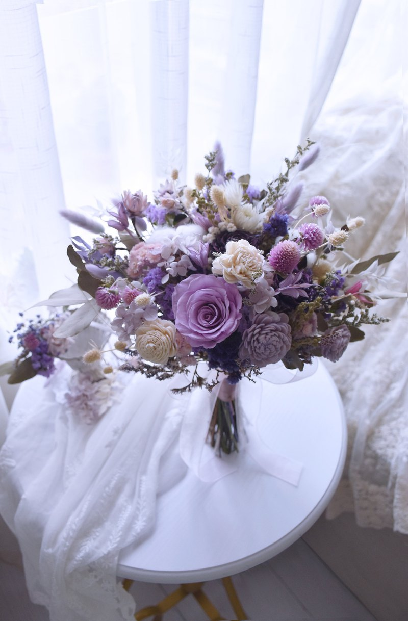 [Our.Little_Space] Fresh and dry flowers wedding bouquet / wedding / bride / custom