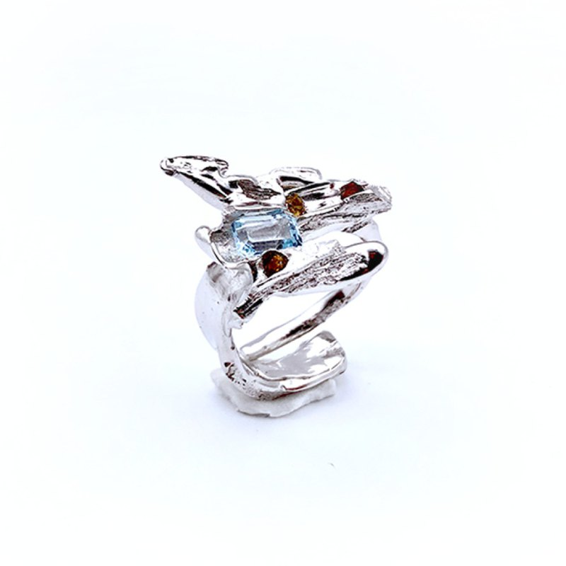 Natural series topaz ring