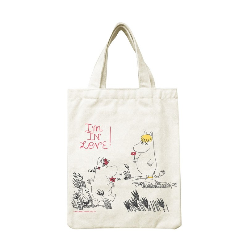 Moomin Lulu meters authorized - hand canvas bag: [offer my love], CA1AE02