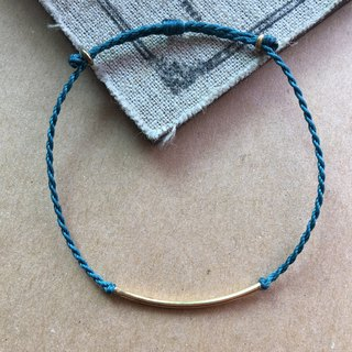 ~米+熊~ Simple brass elbow Japanese wax line / Brazilian wax line anklet / anklet / bracelet
