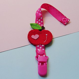 Cheerful baby pacifier chain nipple clip anti-drop chain can be changed into vanilla pacifier using small apple