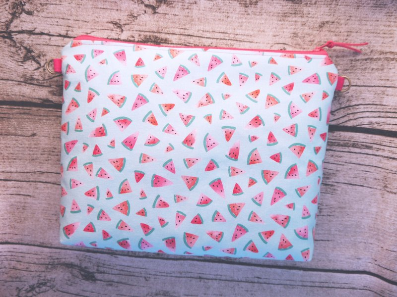 Watermelon piece carry-on back with makeup bag