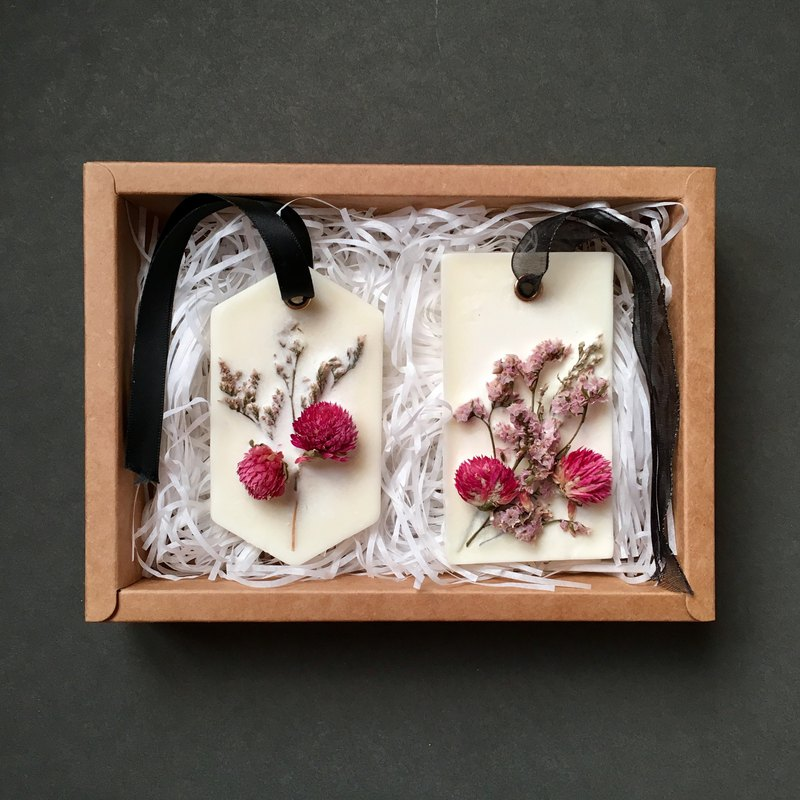 Scented Soy Wax Brick with Dried Flowers Gift Set | Natural Air Fresheners
