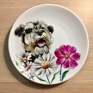 Porcelain painted pet snack tray