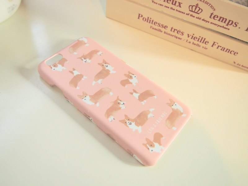 LIMITED EDITION Corgi iPhone Cover in Pink.