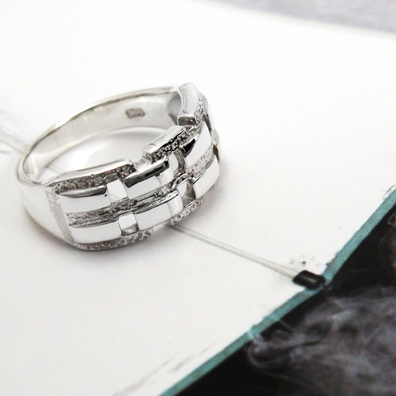 Ring Shape Model Series - Magnificent Way Openwork Styling 925 Silver Ring