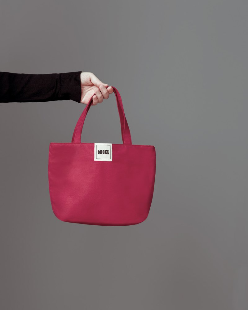 Simple Plain Canvas / Tote / Lunch Bag / Pink