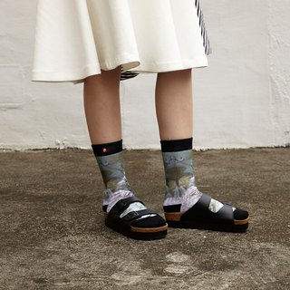Hong Kong Design | Fool's Day stamp socks -Flower Platter 00030