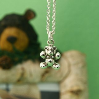 My Sweetie hand-made sterling silver necklace / lovely dessert series - gummy bears (Gan Bei Bear) / Suitable clavicle chain / handmade silver necklace / choker gummy bear candy