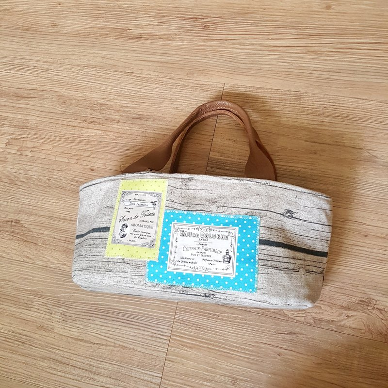 [Label] French original wood beam port bags to bark