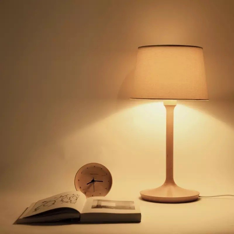 Work solid wood table lamp. German elm