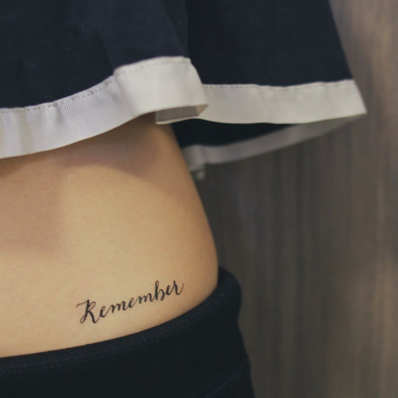 "cottontatt ""Remember"" calligraphy temporary tattoo sticker"