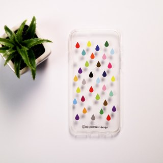 Deerhorn design / color antlers raindrop phone shell iPhone 6s / 6 transparent soft shell