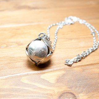 Dreamstation leather Pao Institute, United States 5 cent coins original handmade necklace ball.