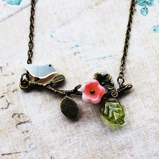 Spring is in the air ... branch bird necklace