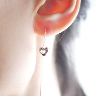 Fairy Tale Mini Three-Dimensional Love Heart Drop Earrings - Single 1pc