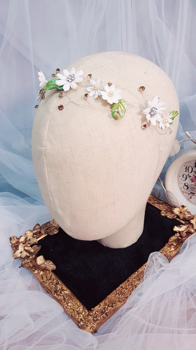 Garden style handmade flower bride hair accessories