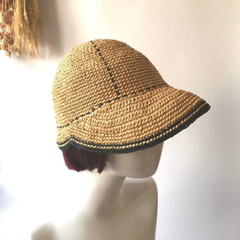 Seriously you lose knit hat / straw hat / riding cap / hand-woven hand-made〗 〖crazy hopscotch