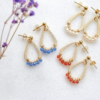 Happy Circle Happy Circle Earrings │ Irregular models can be changed to clip-style Christmas exchange gifts