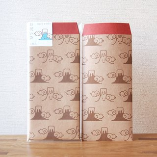 Japanese Gift-Money Envelopes of kraft paper - Mt. Fuji -