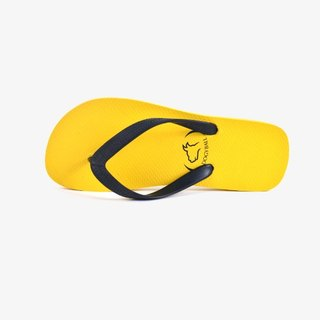 [Dogyball] spices series of rubber character flip-flops - mustard yellow