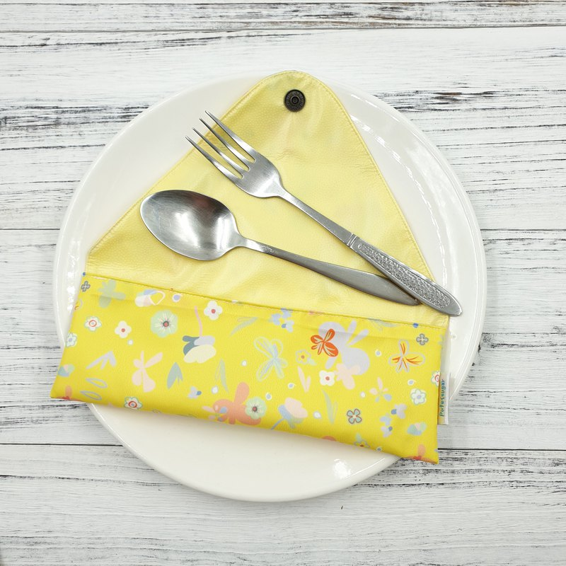 K-04 non-toxic environmental protection cutlery bag straw bag baby cutlery bag can hold food scissors can be customized size