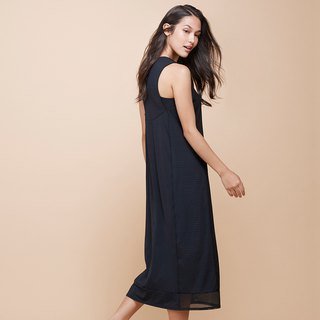 [MACACA] intellectual succinct smile dress - BQE8081 black