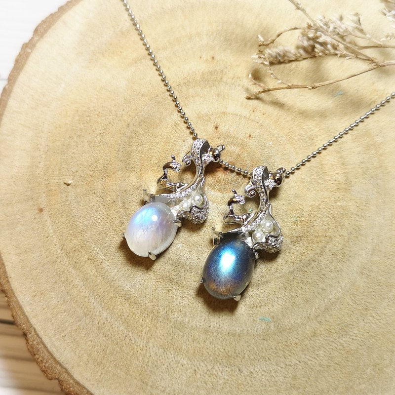 Moonstone  labradorite necklace