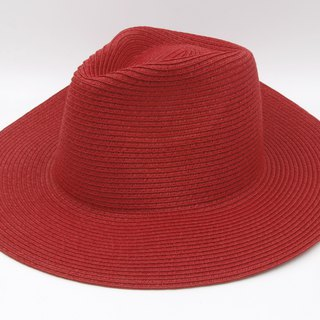 [Paper cloth home] big hat gentleman hat (red) paper line weaving